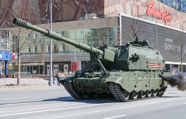 Картинка Парад Победы, 2С35, «Коалиция-СВ», бронетехника России, Самоходная артиллерийская установка