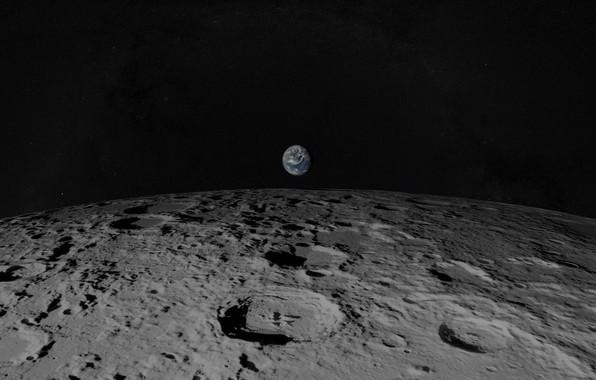Картинка земля, луна, планета