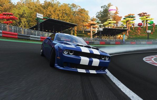 Картинка Dodge, Drift, Demon, Forza Horizon 4