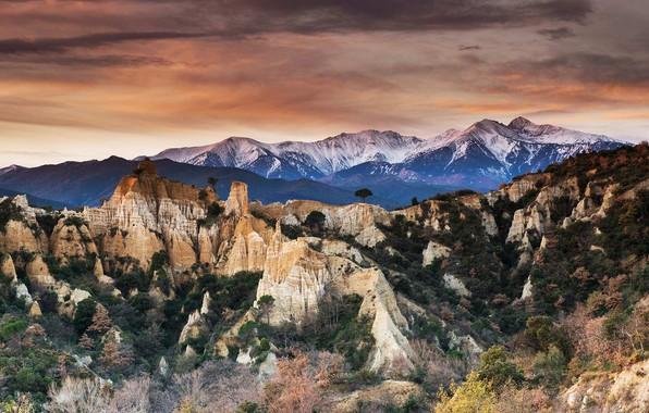 Картинка скалы, Франция, Новая Аквитания, Бор-лез-Орг