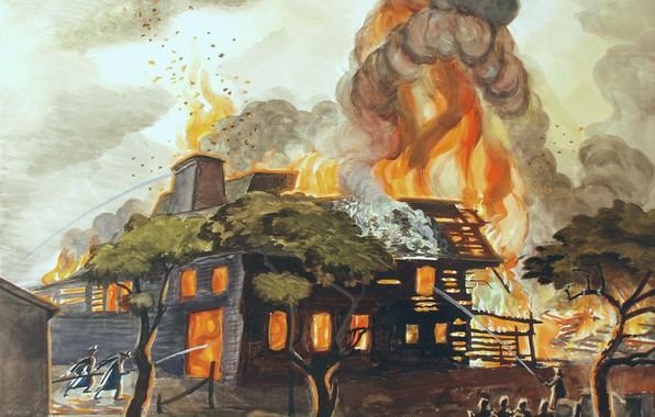 Картинка 1929, Charles Ephraim Burchfield, Pyramid of Fire