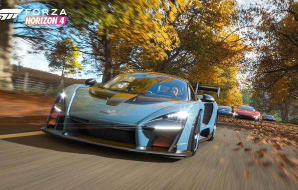 Картинка McLaren, Microsoft, суперкары, Senna, E3 2018, Forza Horizon 4