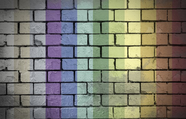 Картинка colorful, rainbow, wall, bricks, textures, 4k ultra hd background