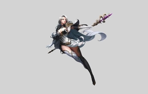 Картинка Girl, Fantasy, Beautiful, Sexy, Art, Style, Minimalism, Characters, Dress, Goddess, Figure, Daeho Cha