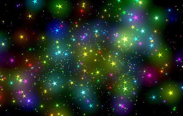 Картинка звезды, абстракция, блики