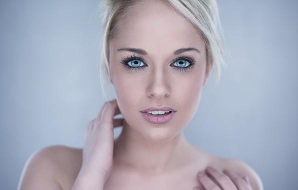 Картинка глаза, девушка, милая, голубые, блондинка, girl, красивая, blue, eyes, beautiful, blonde, cute