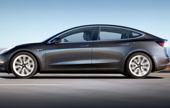 Картинка Tesla, электромобиль, model 3