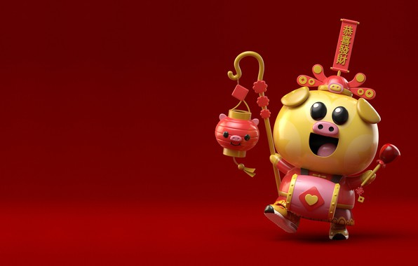 Картинка праздник, арт, фонарик, свинья, AJ Jefferies, Year of the Pig TADO installation APM HK