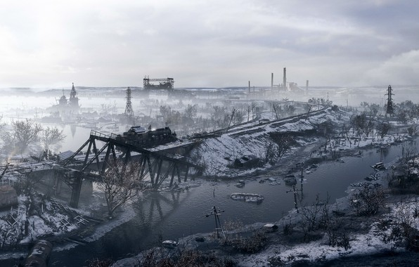 Картинка фон, игра, Metro: Exodus