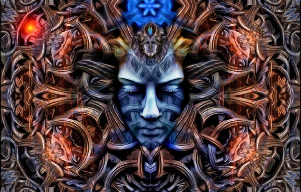 Картинка абстракция, лицо, маска