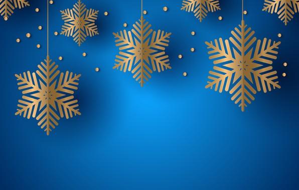 Картинка снежинки, синий, фон, текстура, background, snowflakes