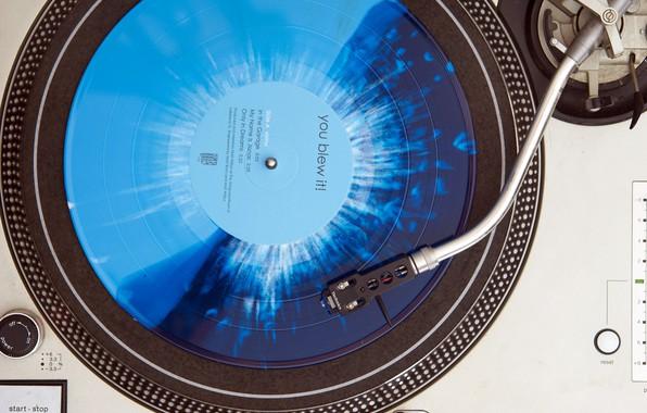Картинка blue, splatter, vinyl, record player, Technics, You Blew It!