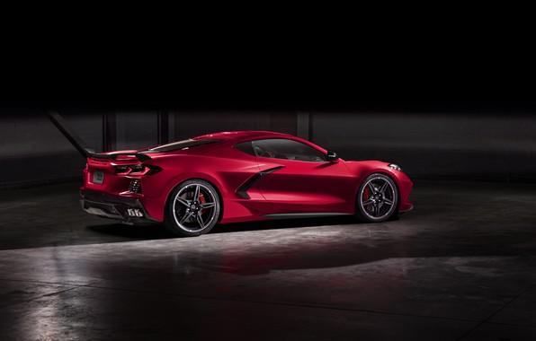 Картинка Corvette, Chevrolet, Фары, Диски, Stingray, 2020, Chevrolet Corvette ( C8 ) Stingray
