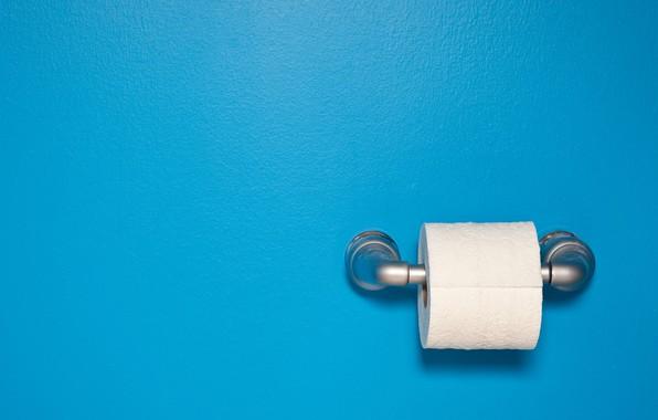 Картинка minimalism, blue background, simple background, Toilet Paper