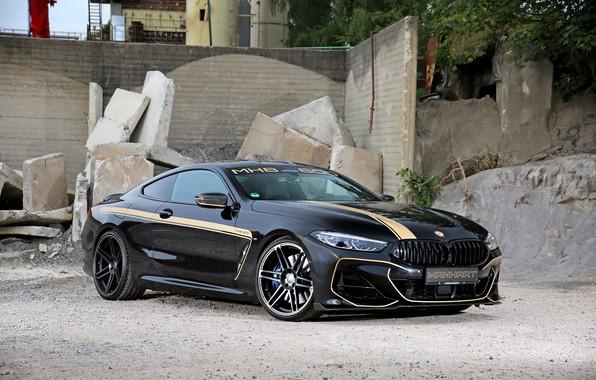 Картинка чёрный, купе, BMW, Manhart, 8-Series, 2019, 8er, G15, M850i, M8, MH8 600, V8 Twin-Turbo, 621 …