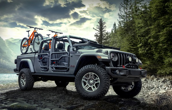 Картинка Gladiator, Jeep, Rubicon, Mopar, 2020, 2020 Mopar Jeep Gladiator Rubicon, Jeep Gladiator Rubicon