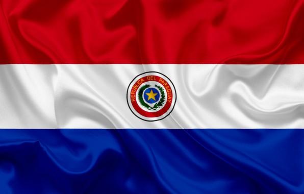 Картинка фон, флаг, герб, fon, flag, Парагвай, Paraguay, paraguay, coat of arms, парагвай, республика парагвай, republica …