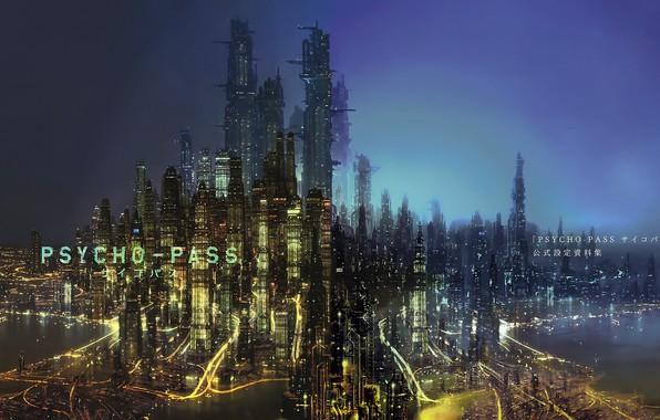 Картинка city, город, рассвет, Psycho Pass, Psycho-Pass