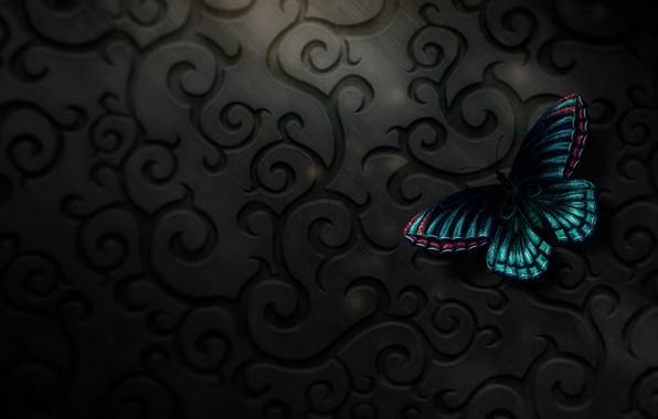 Картинка бабочка, digital, art, butterfly, тексура