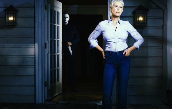 Картинка маска, Halloween, тыква, Хэллоуин, jason, Jamie Lee Curtis, Laurie Strod, Джейми Ли Кёртис