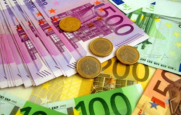 Картинка евро, монеты, купюры, fon, euro, банкноты, coins