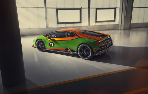Картинка машина, Lamborghini, фонари, суперкар, Evo, Huracan, GT Celebration