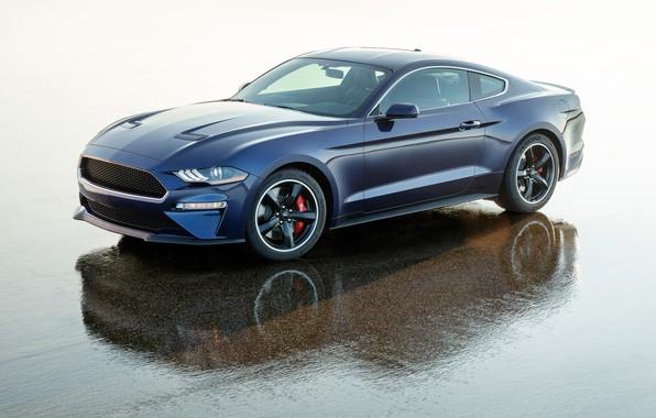 Картинка Mustang, Ford, 2018, Bullitt, Kona Blue