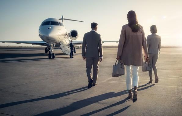 Картинка Gulfstream, Gulfstream G450, Гольфстрим, business jet aircraft, реактивный двухмоторный самолёт бизнес-класса, private aviation, NetJets