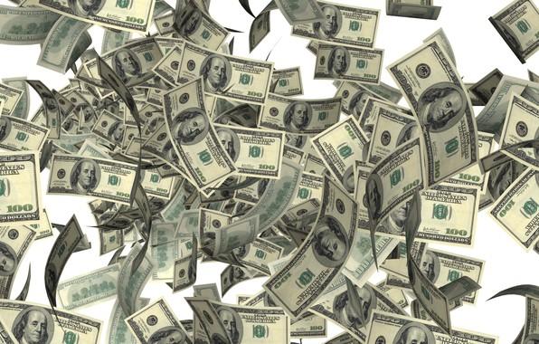 Картинка деньги, доллары, валюта, купюры