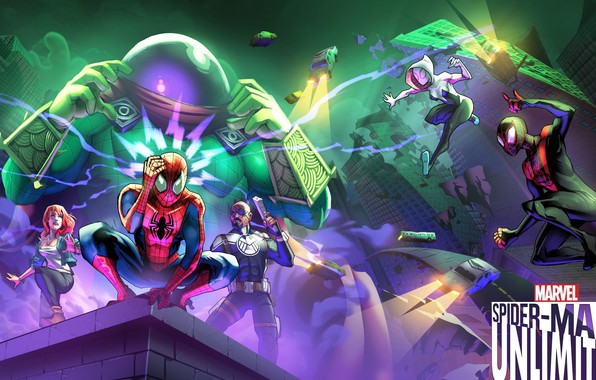 Картинка game, android, Marvel, IOS, spider-man unlimited, spider-verse, Gameloft