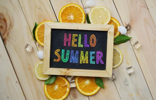 Картинка лимон, апельсин, lemon, summer, фрукты, fruit, orange, citrus, hello, slice