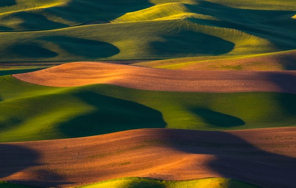Картинка свет, природа, холмы, тени