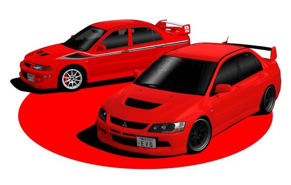 Картинка Красный, Авто, Япония, Машина, Mitsubishi, Lancer, Evolution, Evo IX, Gran Turismo 6, Mitsubishi Lancer Evolution, …