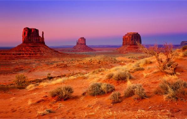 Картинка пейзаж, природа, скалы, пустыня, красота