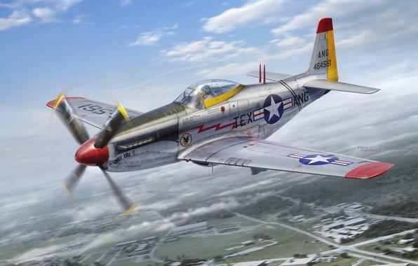 Картинка Истребитель, USAF, P-51 Mustang, North American P-51, P-51H