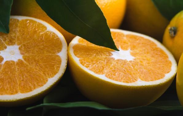 Картинка макро, апельсины, половинки