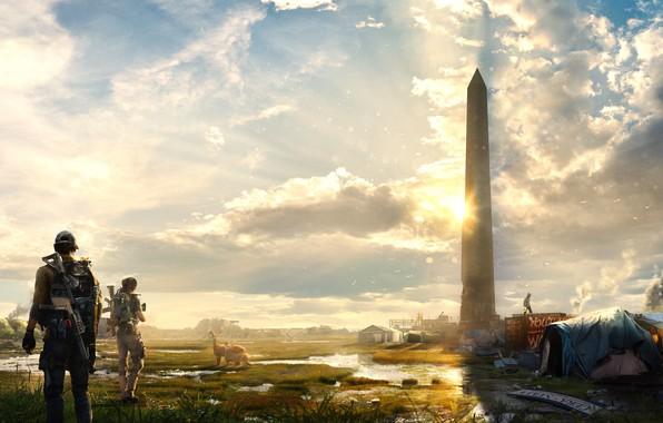 Картинка город, арт, солдаты, вашингтон, агенты, Tom Clancy's The Division 2, The Division 2