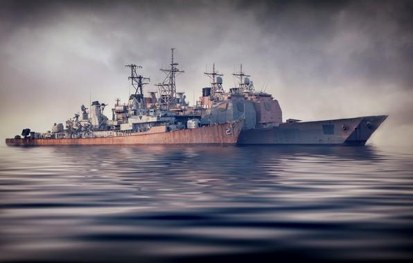 Картинка море, корабли, армия, флот