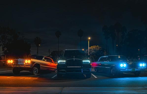 Картинка Rolls-Royce, трио, Black Badge, Cullinan