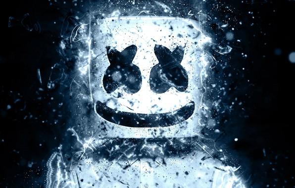 Картинка улыбка, маска, смайлик, DJ Marshmello