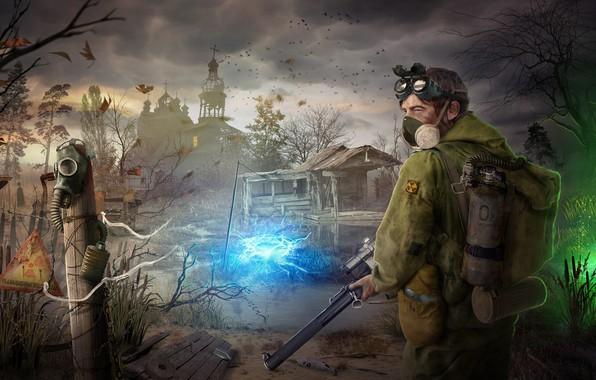 Картинка дом, арт, чернобыль, Stalker, аномалия, сталкер, зона, Sergey Kolosov