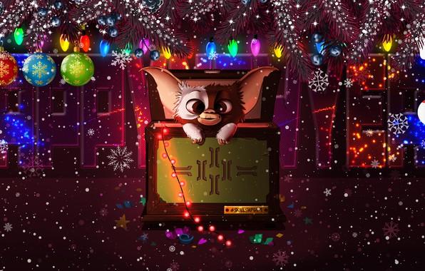 Картинка Зима, Снег, Рождество, Снежинки, Фон, Новый год, Праздник, Арт, Happy New Year, Christmas, Art, Настроение, …