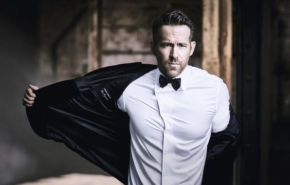 Картинка взгляд, мужчина, рубашка, Ryan Reynolds, пиджак