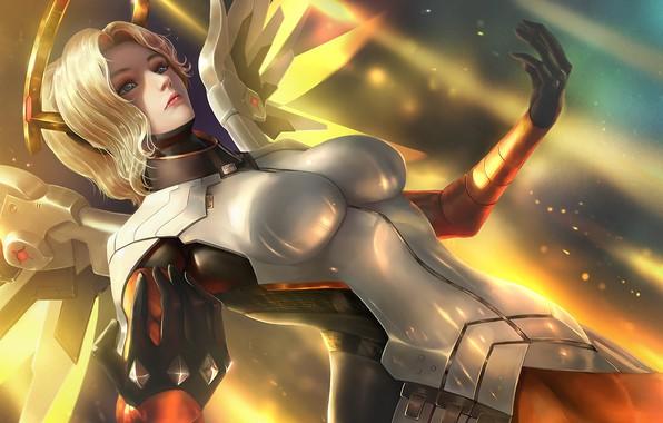 Картинка Girl, Overwatch, Mercy