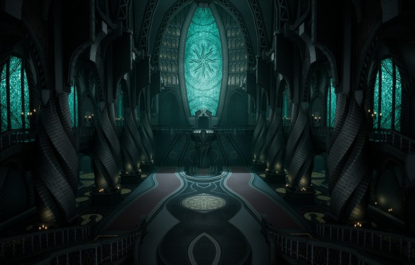 Обои церковь, храм, Мертвый Космос, религия, Dead Space 2, church, temple, marker, religion, обелиски, Unitology, Юнитология