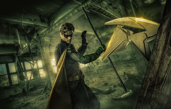 Картинка сериал, Robin, serial, Дик Грейсон, Робин, DC comics, Dick Grayson, Титаны, Titans
