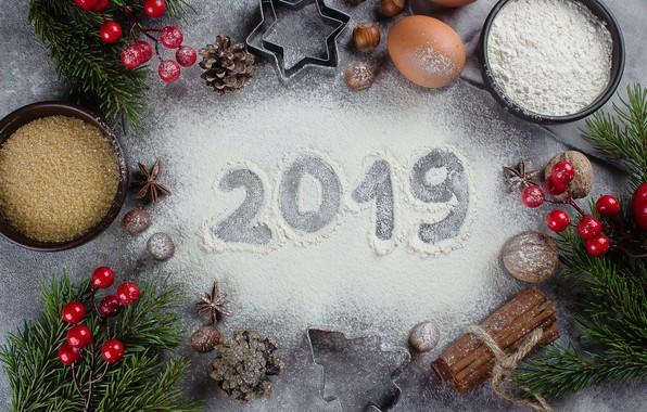 Картинка украшения, Новый Год, Рождество, Christmas, New Year, decoration, xmas, Merry, fir tree, ветки ели, 2019