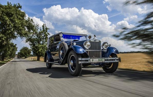 Фото обои дорога, 1932, Škoda, Skoda, 860 Cabriolet