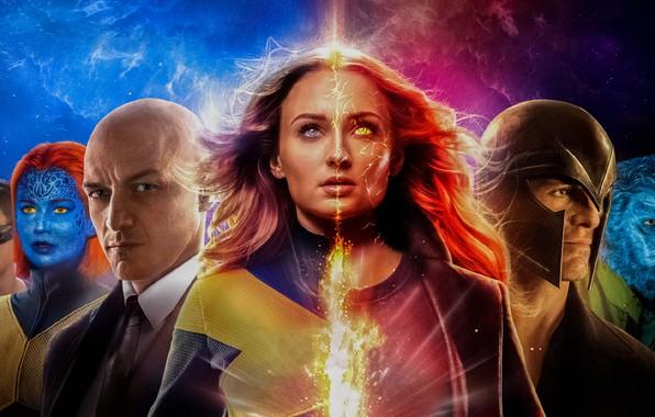 Картинка Dark, Action, Olivia Munn, Fire, Flame, X-Men, Storm, Smoke, year, James McAvoy, Ash, Magneto, Michael …
