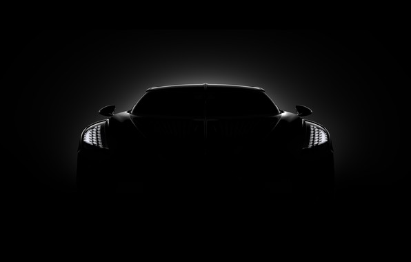 Картинка Bugatti, вид спереди, гиперкар, 2019, La Voiture Noire